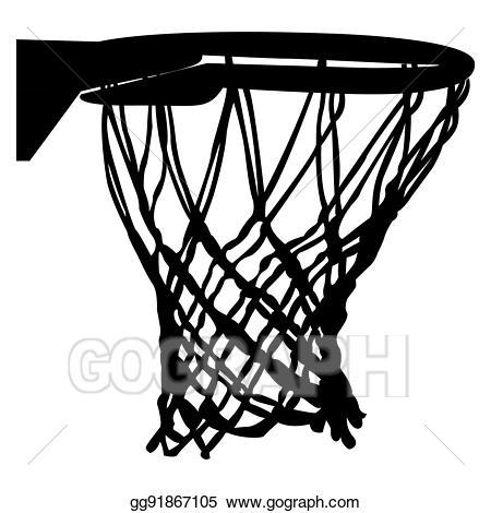 Vector isolated basketball . Net clipart basket ball