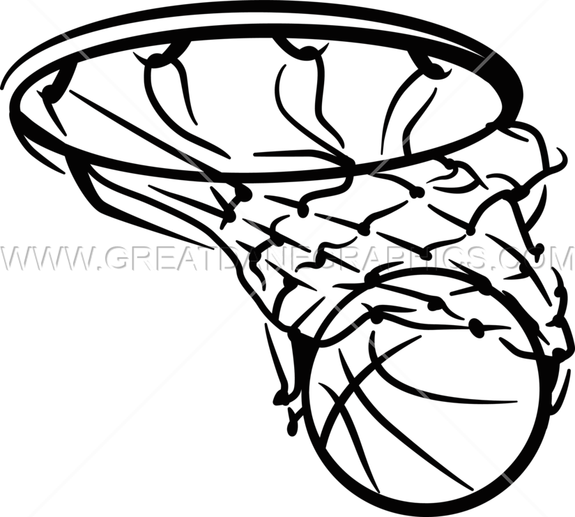 Net clipart basket ball. Basketball in production ready