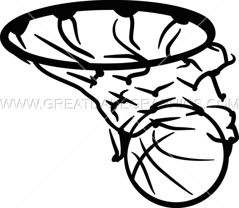 Basketball in production ready. Net clipart basket ball