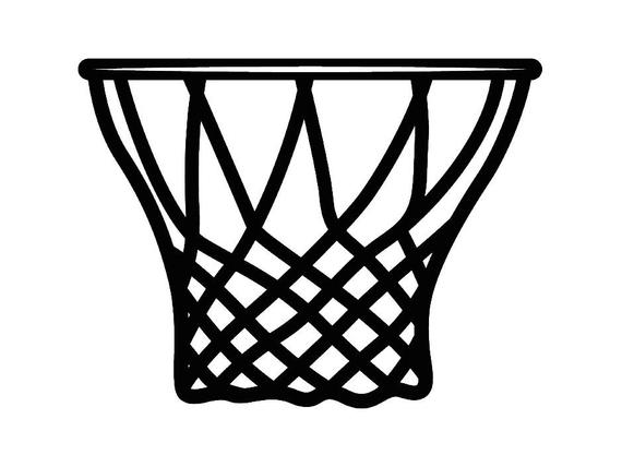 Basketball hoop backboard goal. Net clipart basket ball