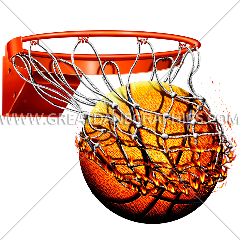 Flaming with net production. Youtube clipart basketball