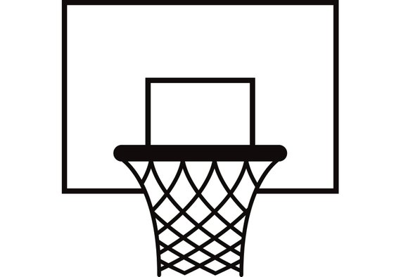 Free Basketball Going Through Net Clip Art with No Background - ClipartKey