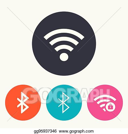 Network clipart. Vector stock wifi and