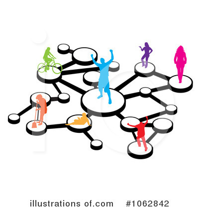 Social illustration by arena. Network clipart