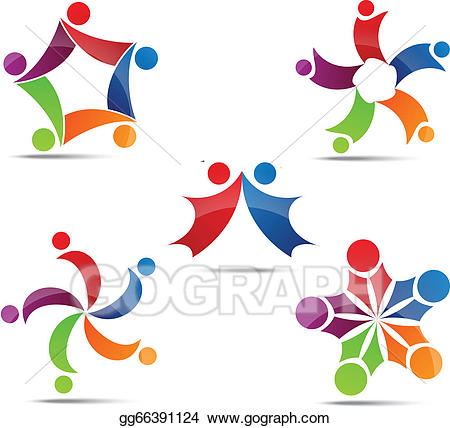 Vector stock and social. Network clipart community