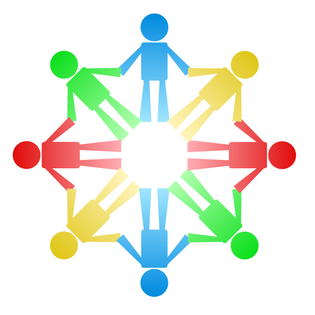 People connecting hands communication. Network clipart community