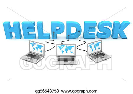 Network clipart multiple computer. Stock illustration wired to