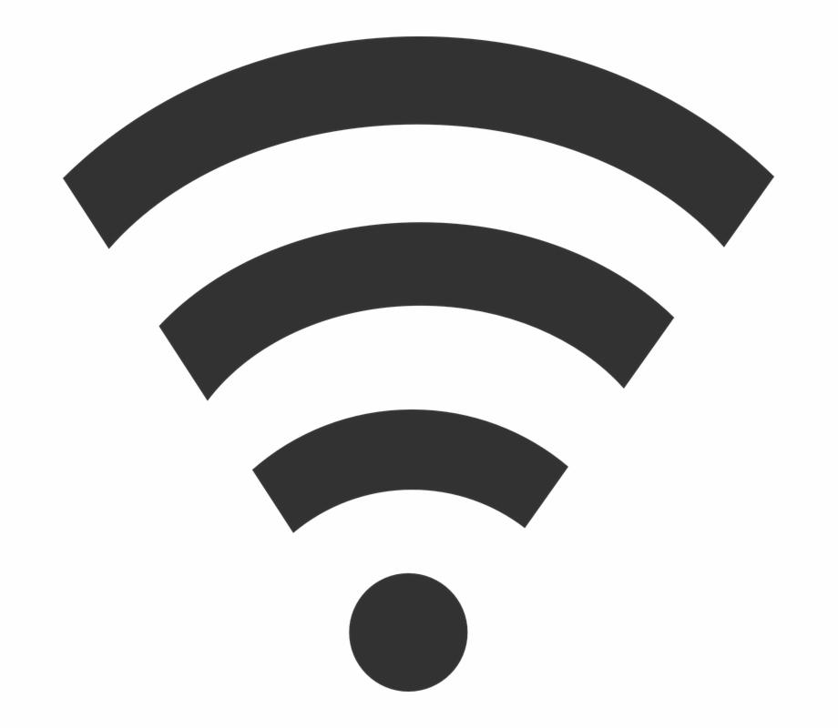 Network clipart network wifi. Wlan signal black wireless