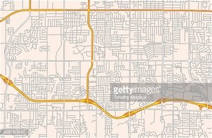 Network clipart road network. Map of a suburban