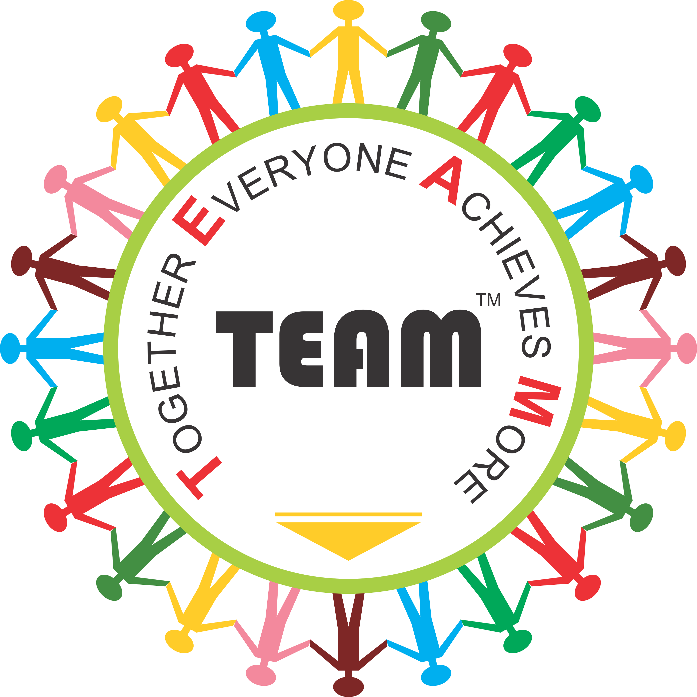 Network clipart road network. Team together everyone achieves