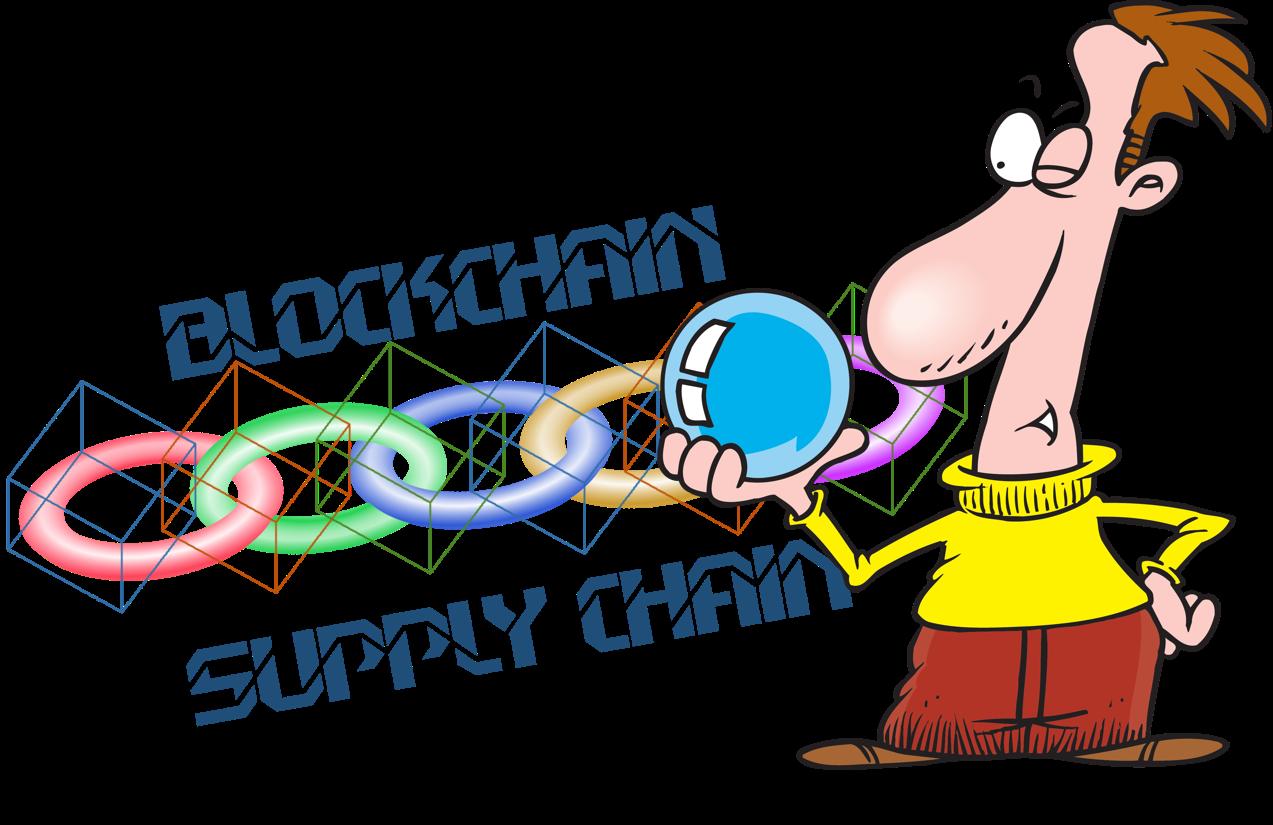 Pathway clipart future plan. The blockchain supply chain