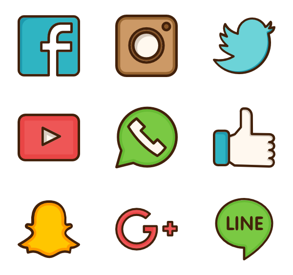 network packs vector. Social media icon png