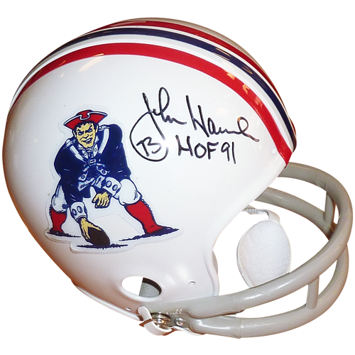 John hannah autographed throwback. New england patriots helmet png