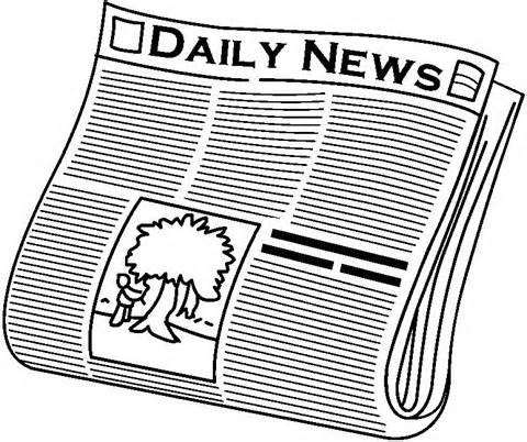 News clipart. Newspaper black and white