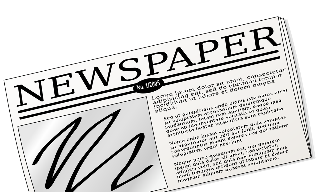 News clipart black and white. My resources page bigpicnic