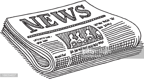 News clipart black and white. Newspaper station