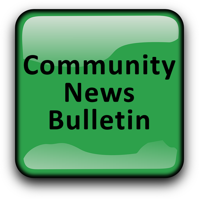 Weekly bulletin park view. News clipart community news