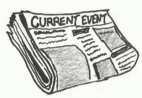 Newspaper clipart current event. News paper or cartoon