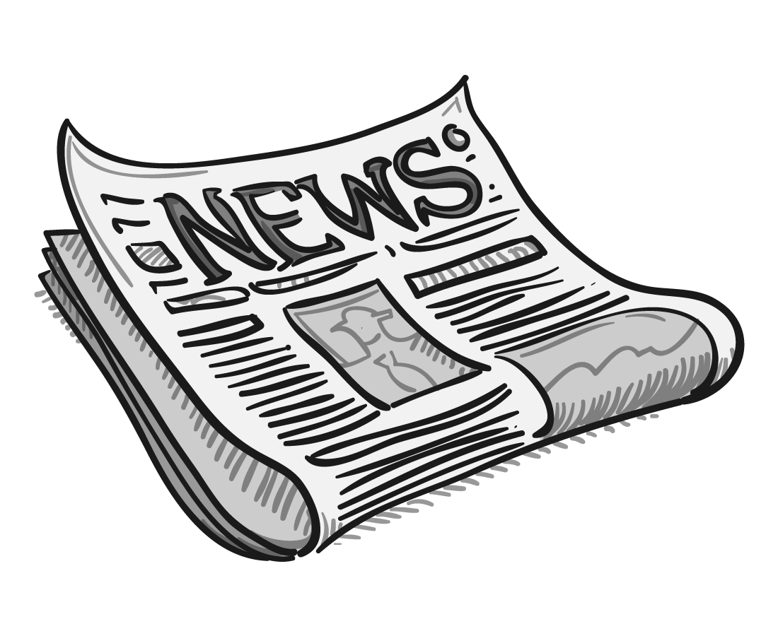 Newspaper clipart editorial. Cartoon clip art headline