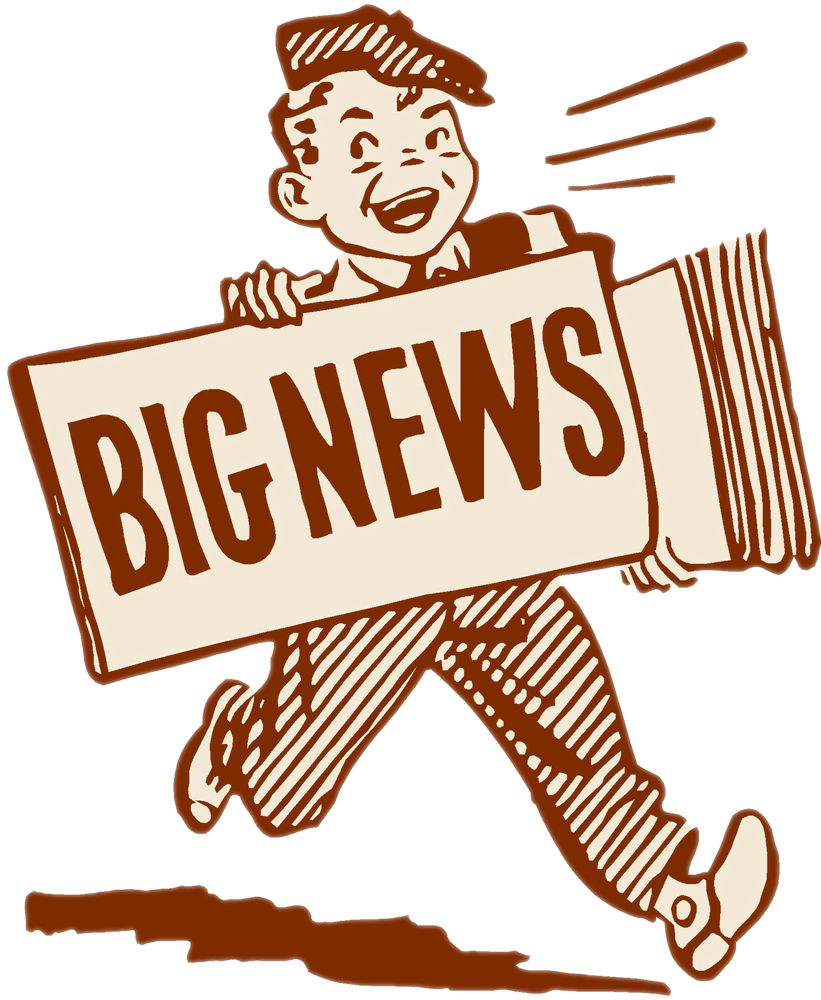 News clipart exciting news. For fall