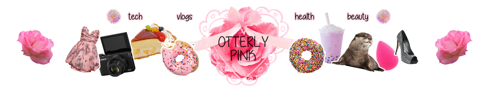 Otterly pink new start. News clipart exciting news