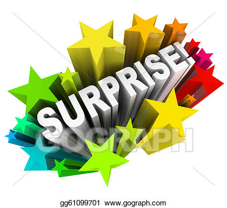 Stock illustration starburst exciting. Surprise clipart surprise word