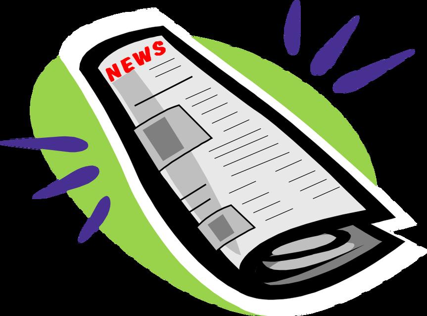 Newsletter clipart weekend news. April rewire seattle newspaperclipart