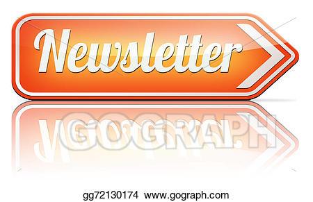 Stock illustration latest news. Newsletter clipart newspaper