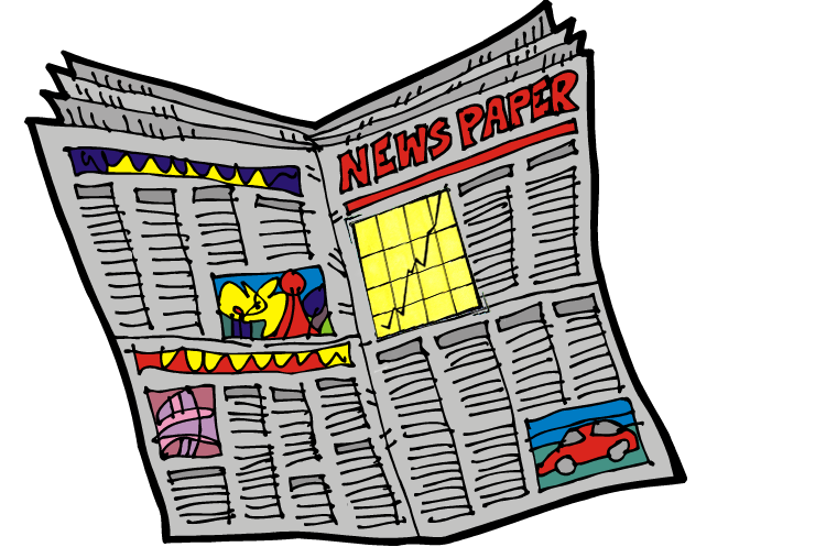 Newspaper clipart newspapaer. Clip art outlier cliparts