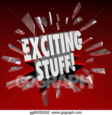 Stock illustration exciting stuff. News clipart important news