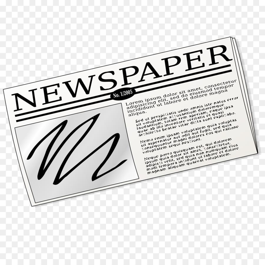 News clipart line. Logo newspaper paper text