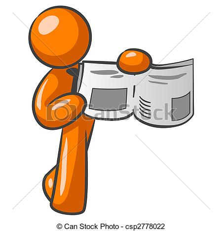 News clipart man. Orange clip art panda