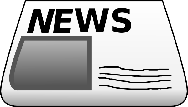 Newspaper best ty s. News clipart news report