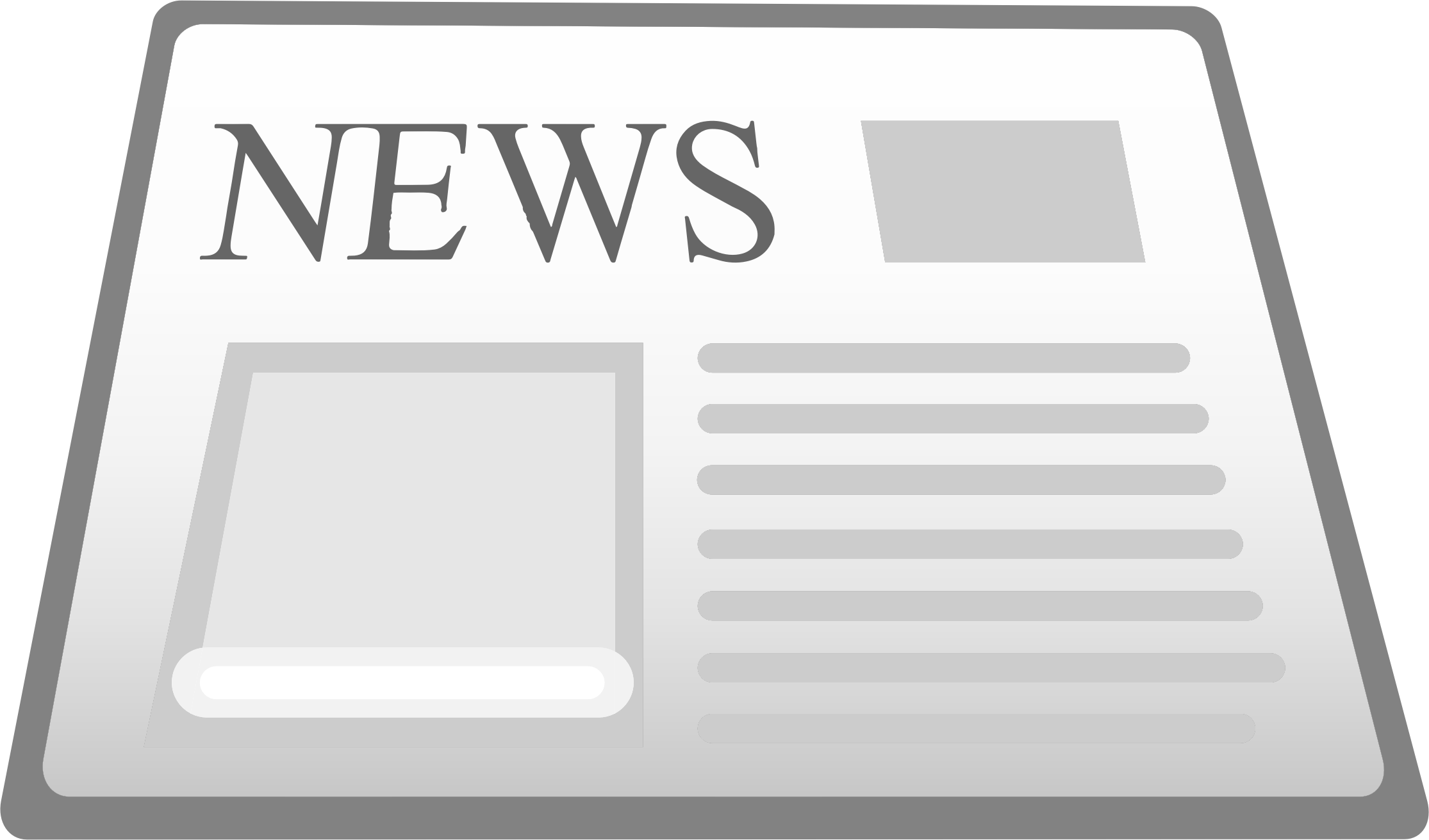 Newspaper clipart newspapaer. Icon big image png