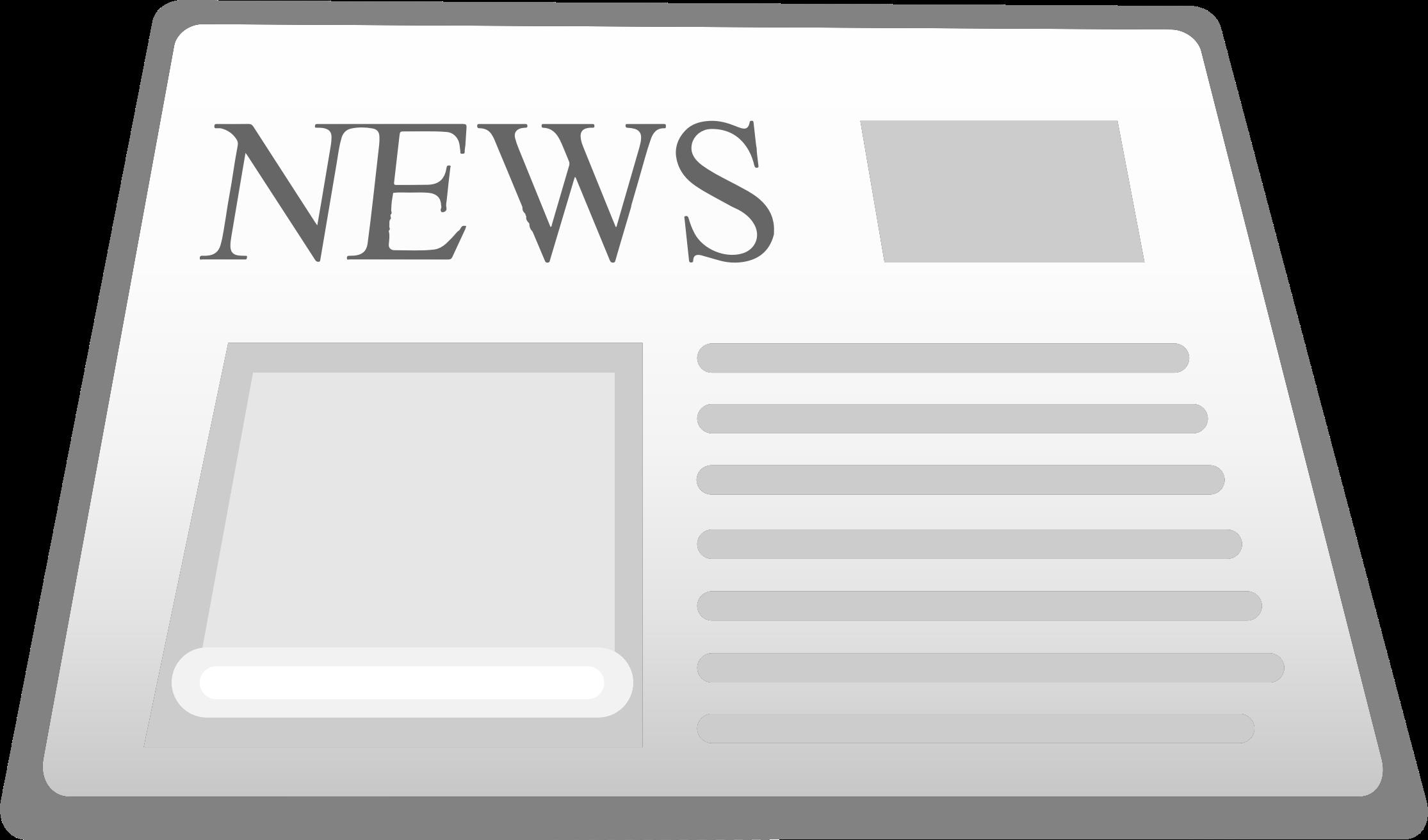 News clipart news update. Newspaper icon big image
