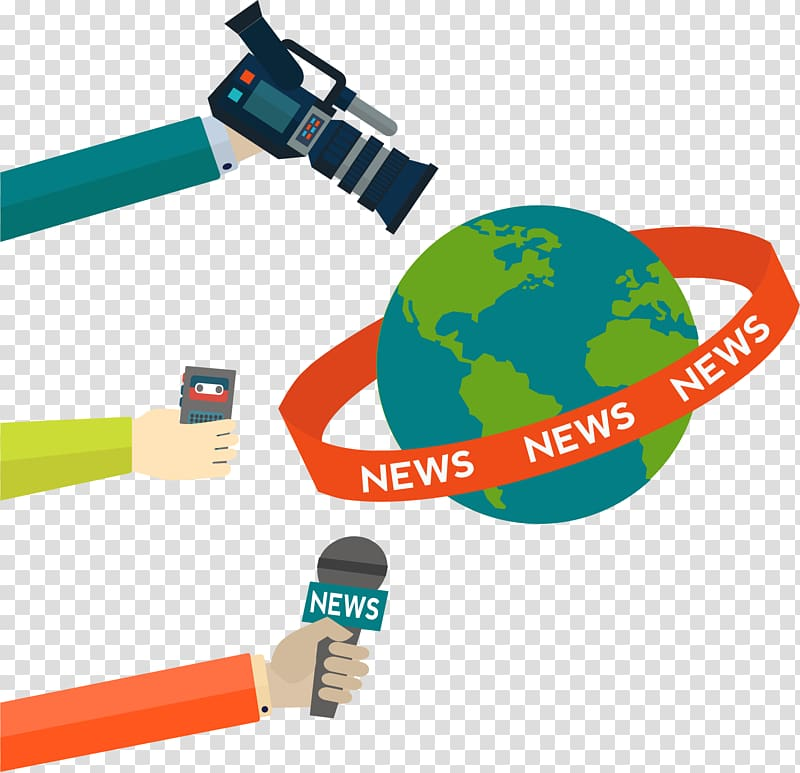 Multicolored world illustration information. News clipart news update