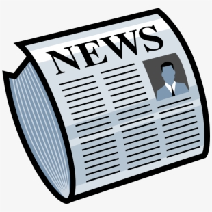 Newspaper extra daily paper. News clipart news update