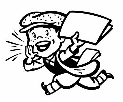 Clip art newsboy library. Newsletter clipart newpaper