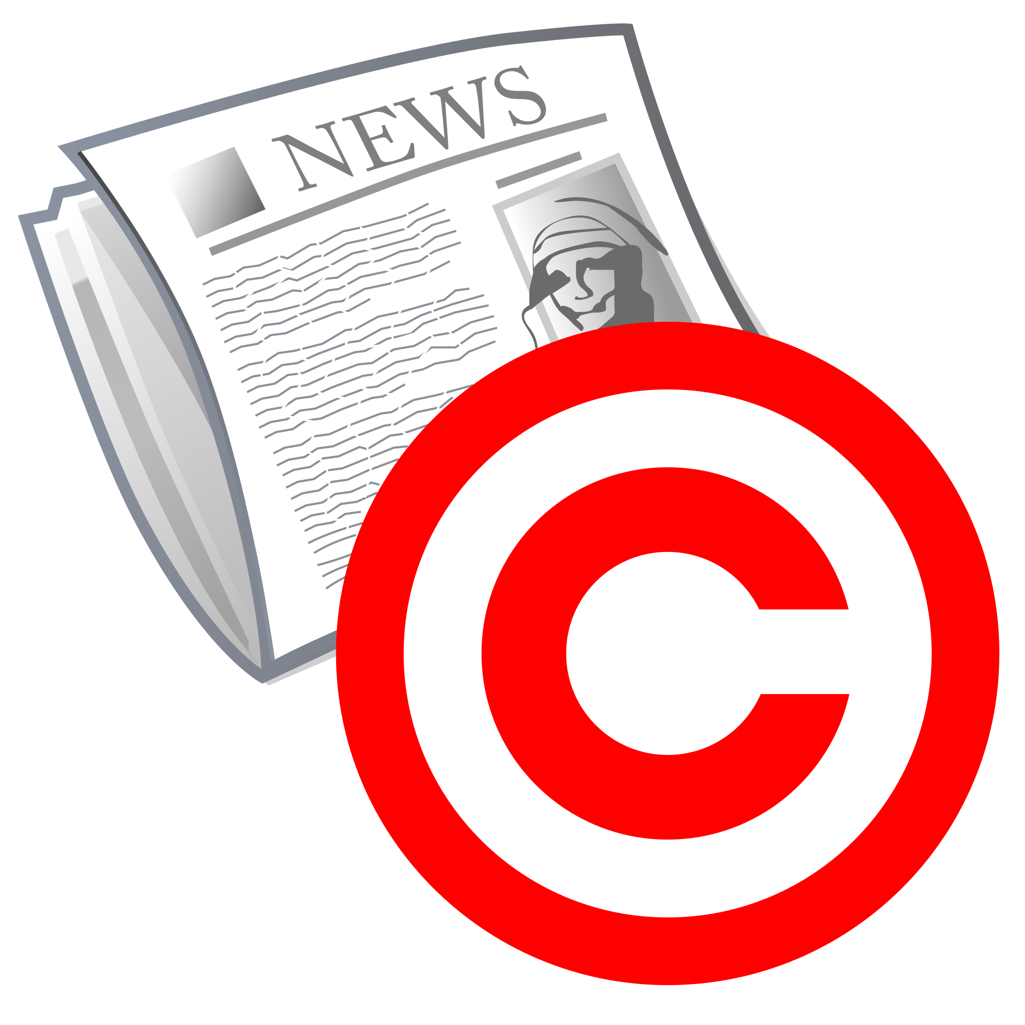 File cover copyright svg. Newspaper clipart newspaper front page