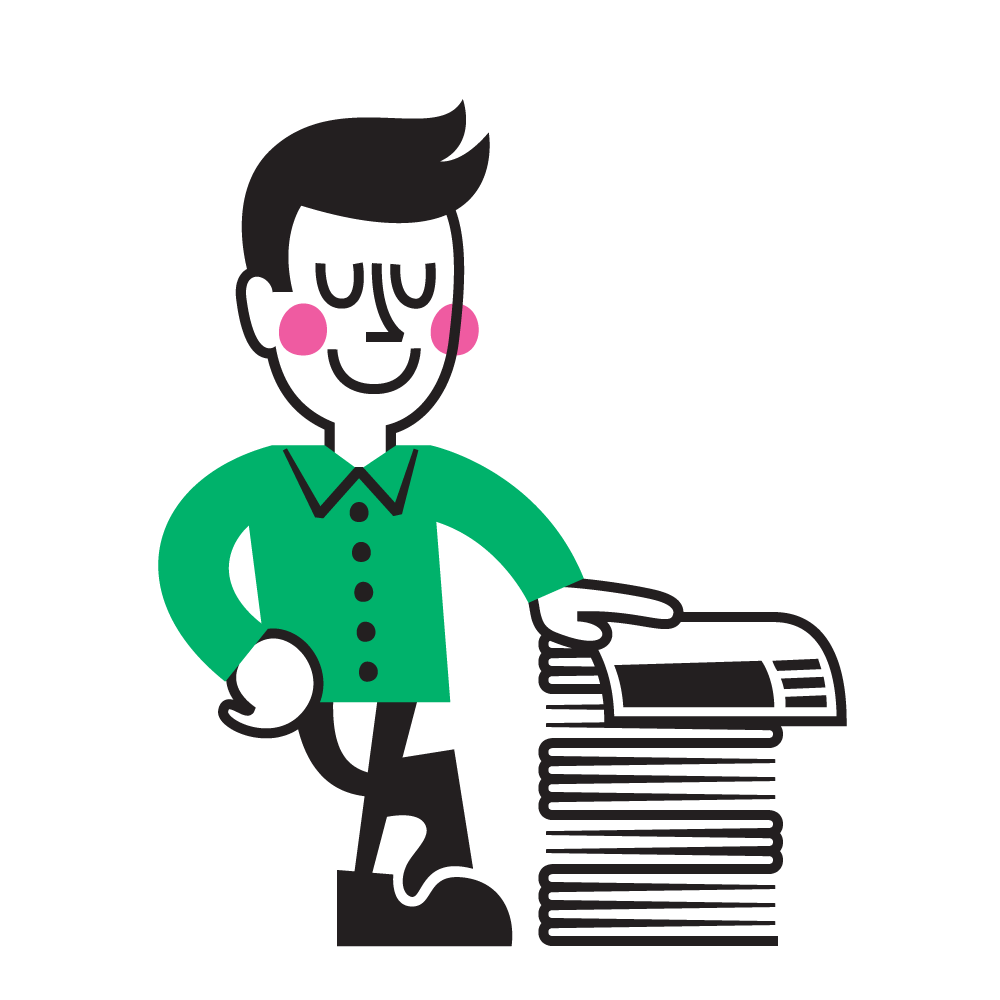 News clipart paperboy. Introducing russell our new