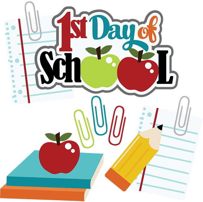 First day of pre. Grades clipart k12