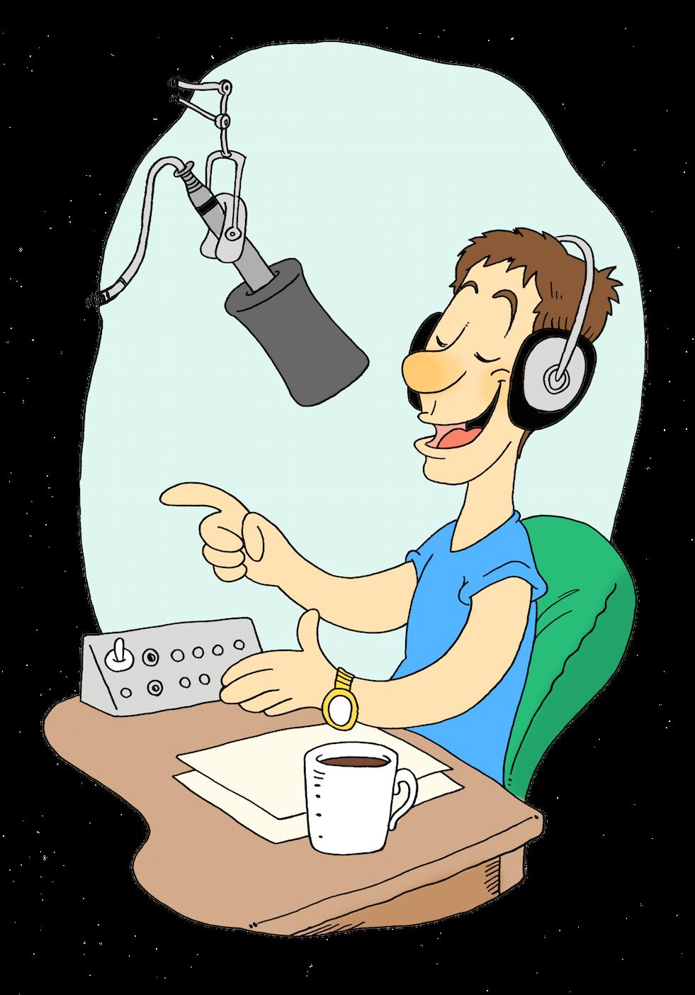 News clipart radio presenter. Surrey choices join a
