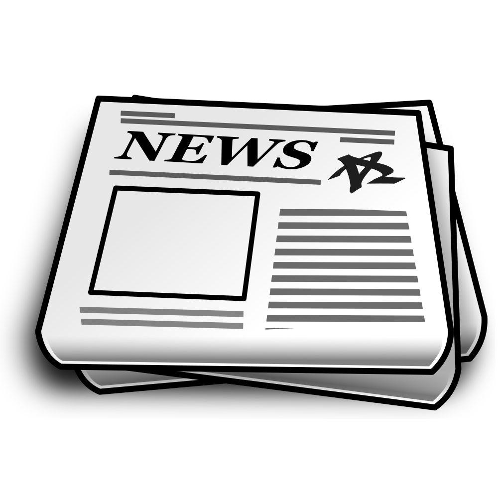 Onlinelabels clip art details. News clipart rolled newspaper