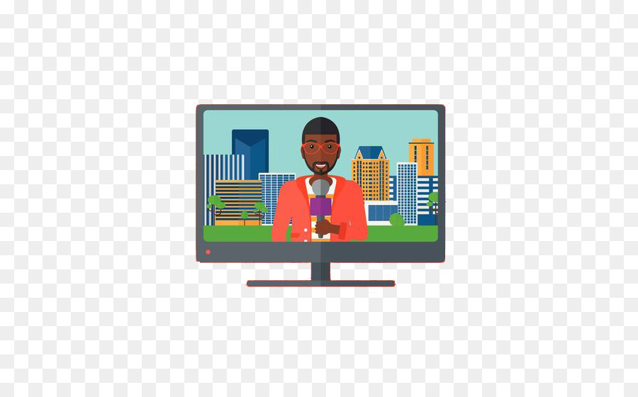Cartoon png download free. Television clipart tv broadcasting