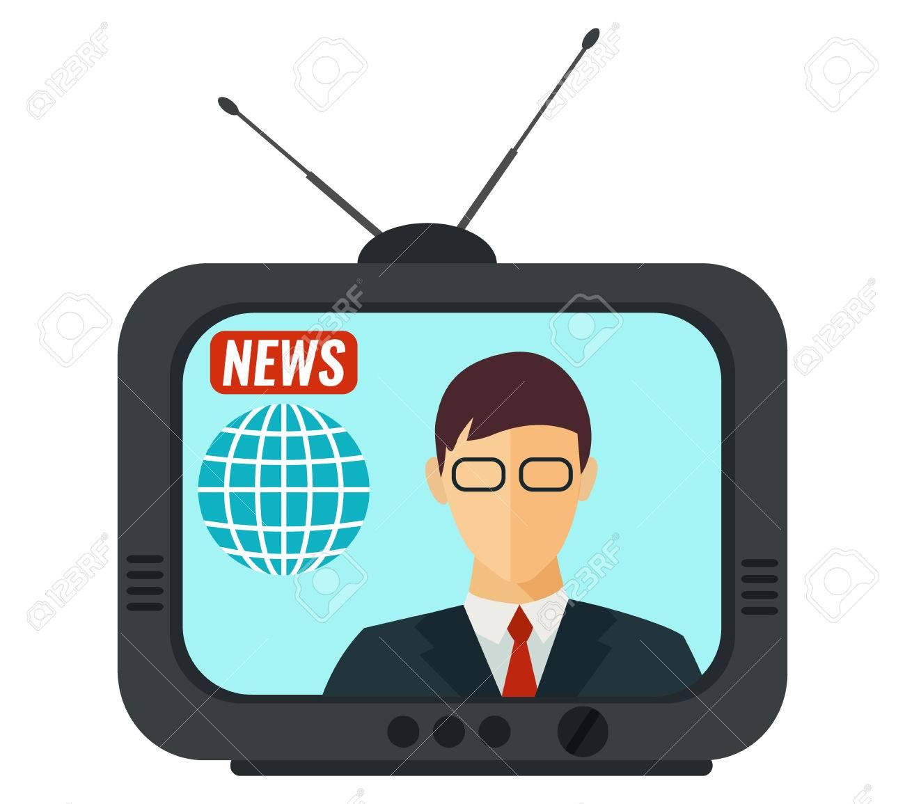 Television clipart tv news. Presenter