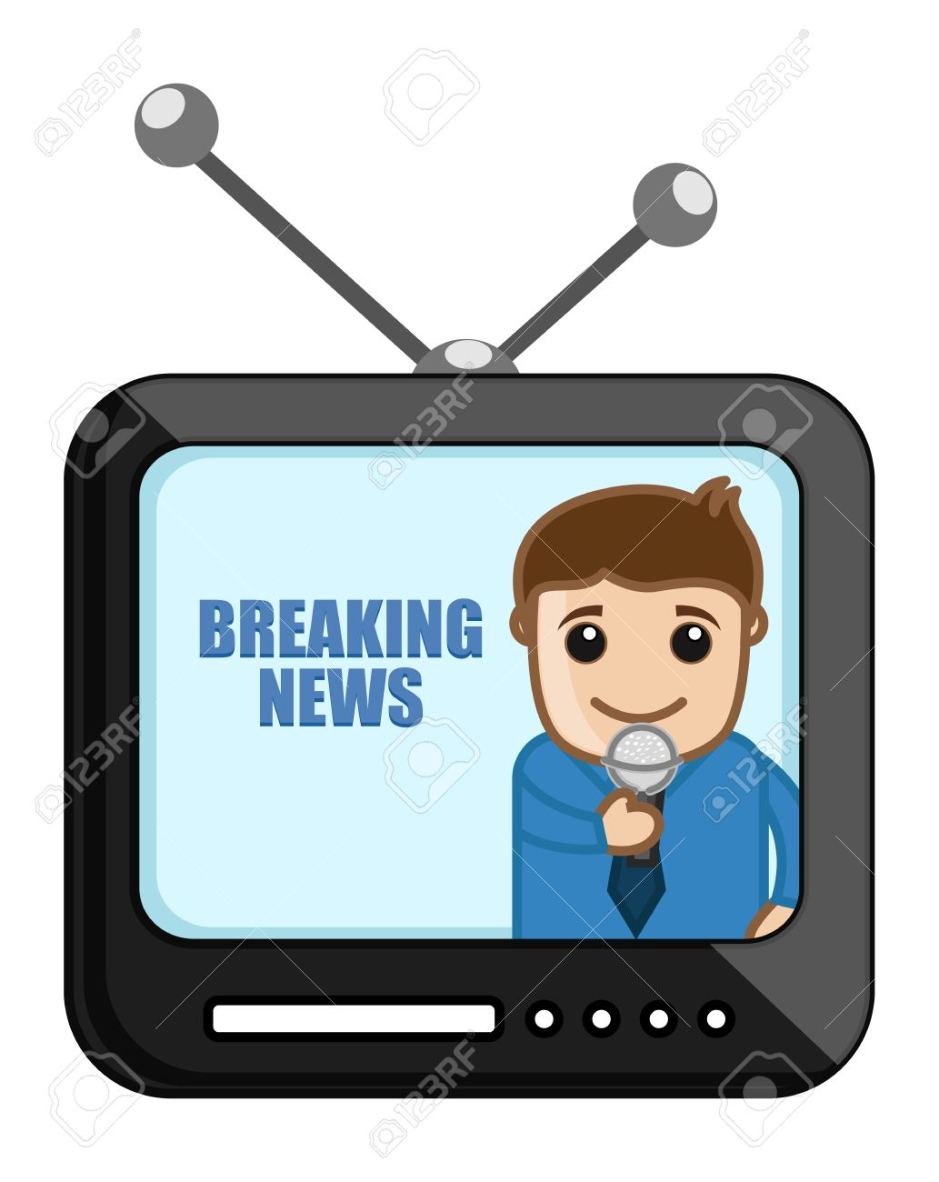 Free watch download clip. Television clipart tv news