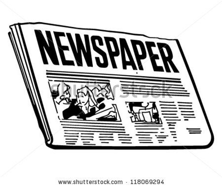 collection of black. News clipart weekend news