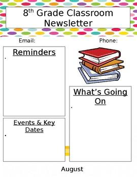 Newsletter clipart grade school. Junior high template