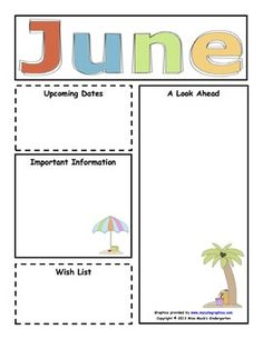 Elementary newsletters all months. Newsletter clipart informative