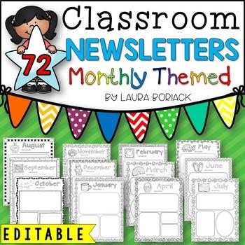 Templates editable . Newsletter clipart monthly newsletter